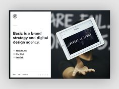 Basic Redesign Homepage concept by Sun Beom #Design Popular #Dribbble #shots