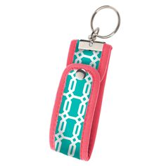 Wristlet Fob-Turquoise - Occasionally Made - Classic Gifts with a Trendy Twist!