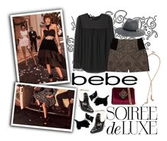 """""""Contest Entry: To All a Chic Night with bebe Holiday"""" by ladygroovenyc ❤ liked on Polyvore featuring Bebe"""