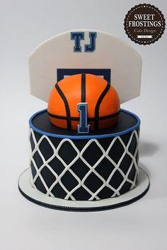 Basketball Baby Shower, Basketball Birthday Parties, Basketball Hoop, Logo Basketball, Birthday Cakes For Men, Cake Birthday, Birthday Basket, 16th Birthday, Birthday Ideas