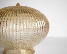 Vintage amber glass globe for light fixture.