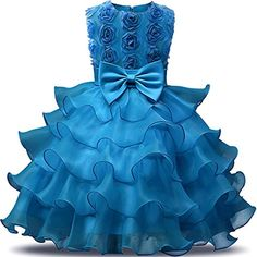 Flower Girl Dress For Wedding Baby Girl 3 8 Years Birthday Outfits Children's Girls First Communion Dresses Girl Kids Party Wear Baby Blue Prom Dresses, Girls First Communion Dresses, Baptism Dress, Birthday Dresses, Baby Girl Dresses, Baby Dress, The Dress, Flower Girl Dresses, Wedding Dresses