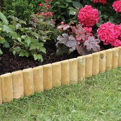 Fixed Log Roll Edging 15 x 100cm - Ideal for border edges, flower beds and paths - Border edging made from pressure treated timber