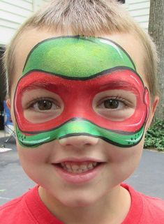 Face paint ideas – Hobbies paining body for kids and adult Kids Face Painting Easy, Disney Face Painting, Face Painting Halloween Kids, Christmas Face Painting, Face Painting Tutorials, Face Painting Designs, Body Painting, Halloween Face, Ninja Turtles