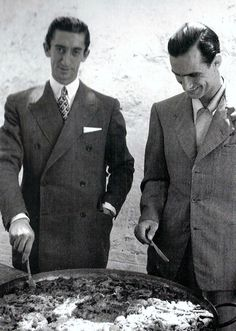 carlos arruza | Manolete y Carlos Arruza se despachan una paella en los años del ...