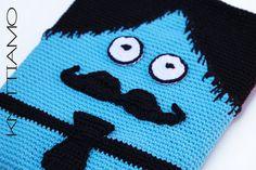 #CROCHET #PATTERN #ipad #case #mustache #man #cartoon #uncinetto #schema #tutorial #baffi #uomo #custodia #ipad #tablet #knittiamo #borsa #bambino
