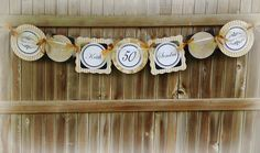 50th Wedding Anniversary Banner Gold and by chocolatetulipdesign, $42.50