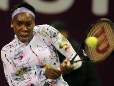 DOHA, Qatar  — 5X Championships at Wimbledon Champion Venus Williams def Qualifier Petra Martic 6-2, 6-2 to line up a 2nd Rd match v fellow Championships at Wimbledon Champion Petra Kvitova in the Qatar Open on Monday. 2/10/2014 #TeamVenus