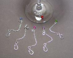 Set of 6 Swarovski Wine Glass Charms with by DesignsbyTBrigham, $18.00
