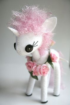 I want to try and make this but maybe without the pink curly hair...