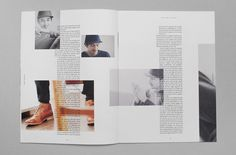 Simple yet effective. Text overlaying photographs. Photos over 2 pages. Edge of a photo on the right hand side. All these elements show disruptive design. I think the page is slightly too overcrowded with disruptive elements but they're all relevant.