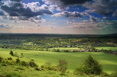 Looking over the North Downs from Box Hill, Surrey, England
