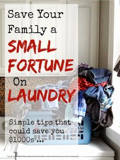 Save Money On Laundry by Mums Make List PLUS 6 other DIY tips for How to Get Organized.