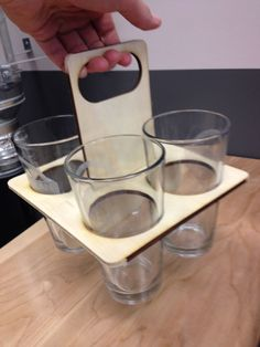 Laser Cut Pint Glass Holder