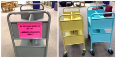 Sprucing Up My School Library for Less Than $600 | School Library Journal Library Cart, School Library Decor, Elementary School Library, Library Skills, Middle School Libraries, Library Room, Library Lessons, Library Ideas, School Library Displays