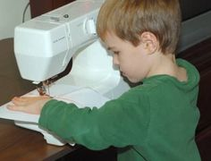 Easy kids sewing machine lessons and how to- for when the bean is ready to sew