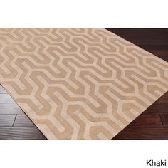 Hand Loomed Drome Solid Tone-On-Tone Geometric Wool Area Rug (8' x 11') | Overstock.com Shopping - Great Deals on 7x9 - 10x14 Rugs