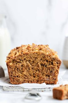 Your hunt for the perfect gluten free banana bread is over, because this is it! This recipe is easy to make, very moist and made in one bowl. Gluten Free Banana Bread, Easy Banana Bread, Banana Bread Recipes, Gluten Free Snacks, Gluten Free Baking, Dairy Free Recipes, Healthy Dessert Recipes, Snack Recipes, Breakfast Recipes