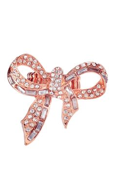 Rose Gold Bow Stretch Ring