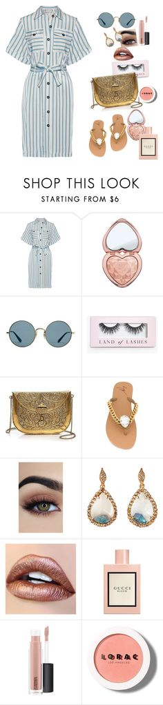 """""""Stranger Things"""" by chelsofly ❤ liked on Polyvore featuring Paul & Joe, Too Faced Cosmetics, Ray-Ban, Boohoo, From St Xavier, Giuseppe Zanotti, Bavna, Gucci, MAC Cosmetics and LORAC"""