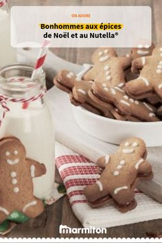 Replongez en enfance avec ces biscuits-bonhommes au Nutella®️️️️️️️️️️️️️️️️ ! #recettemarmiton #marmiton #cuisine #recette #patisserie #biscuits #gâteaux #nutella #chocolat #facile #gouter #noel #epices #cannelle #bonhommes #sandwich Biscuits, How Sweet Eats, Yule, Just Desserts, Gingerbread Cookies, Sandwiches, Food And Drink, Sweets, Homemade
