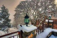 Palios Agios Athanasios Edessa Macedonia Greece Winter Destinations, Travel Destinations, Macedonia Greece, Worlds Largest, Ladder Decor, The Incredibles, Snow, Country, Outdoor Decor