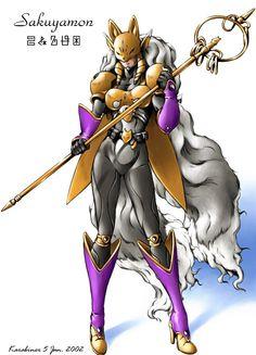 karabinr digimon | ... bandai boots digimon female karabiner sakuyamon shaman_staff solo
