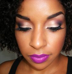 """Beauty By Lee: """"Smoked Plum"""" makeup tutorial with MAC Heroine lipstick Gorgeous Makeup, Love Makeup, Makeup Tips, Beauty Makeup, Makeup Looks, Hair Beauty, Makeup Ideas, Plum Makeup, Brown Skin Makeup"""