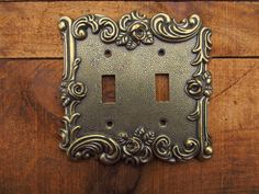Vintage Amertac Metal Switch Plate Cover by VintageTrixie on Etsy
