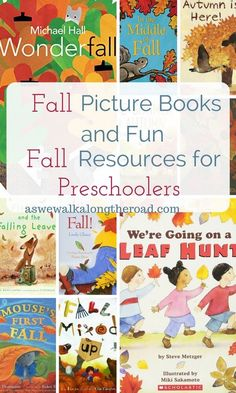 Fall books and activities for preschooler