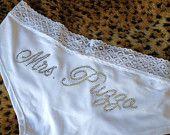 Custom Rhinestone bridal panties