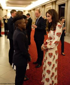 Duchess Kate: Kate in Floral Print McQueen for Team GB Reception at Buckingham Palace