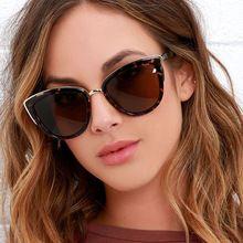 Moda Senhora Do Gato Óculos de Sol Óculos de Lentes de Sol Mujer Retro  UV400 Óculos f8bd33ac6e