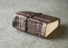 Small Brown Leather Journal. $20.00, via Etsy.
