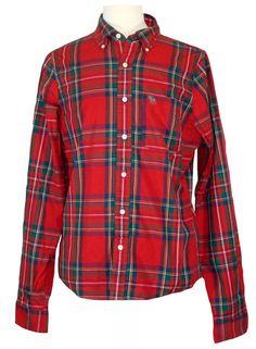 NEW Abercrombie & Fitch Mens Shirt Douglass Mountain Plaid Red Green Sz XL $88 #AbercrombieFitch #ButtonFront