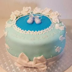Christening cake for boys