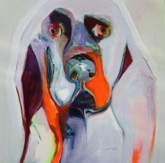 "Saatchi Online Artist Patricia Derks; Painting, ""dog"" #art"