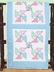 Pinwheel 18'' Prestamped Cross-Stitch Quilt Blocks