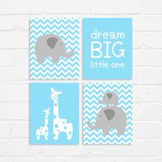 Nursery art  printable nursery print set  dream big by WhereisAlex