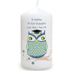 Personalised Graduation Candle - Mr Owl  from Personalised Gifts Shop - ONLY £9.95
