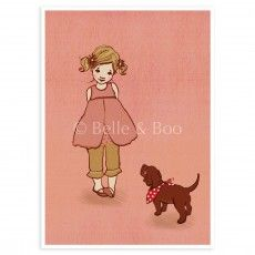 """Ava & The Dog"" Postcard"