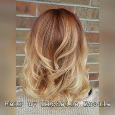 Copper into light blonde