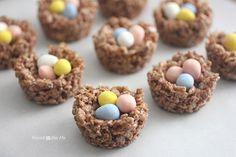 Repeat Crafter Me: Birds Nest Cocoa Krispie Treats