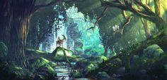 Ashitaka in the Spirit Forest - Princess Mononoke (2230x1080) : wallpapers