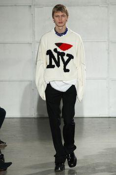 Raf Simons, menswear, intarsia, graphic knit