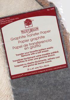 Graphite Transfer Paper 12 x 24  Size    $3.99 pkg/ 3 pkgs $1.99 pkg  http://www.save-on-crafts.com/transferpaper.html