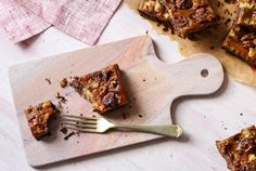 Chocolate Hazelnut and Peanut Butter Bars (Vegan Option)