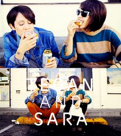 tegan and sara. donuts. what's not to love here?