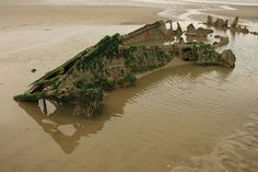 Wreck of SS Crested Eagle on Dunkirk Beaches #ww2