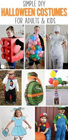 Stress-free DIY Halloween costumes for kids AND adults! :-)